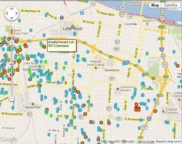Little Rock Properties Map  City Of Little Rock