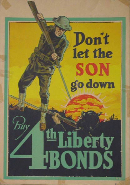 Poster from WWI exhibit