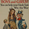View larger version-Boys and Girls! You Can Help your Uncle Sam Win the War
