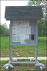 A kiosk, or informational board