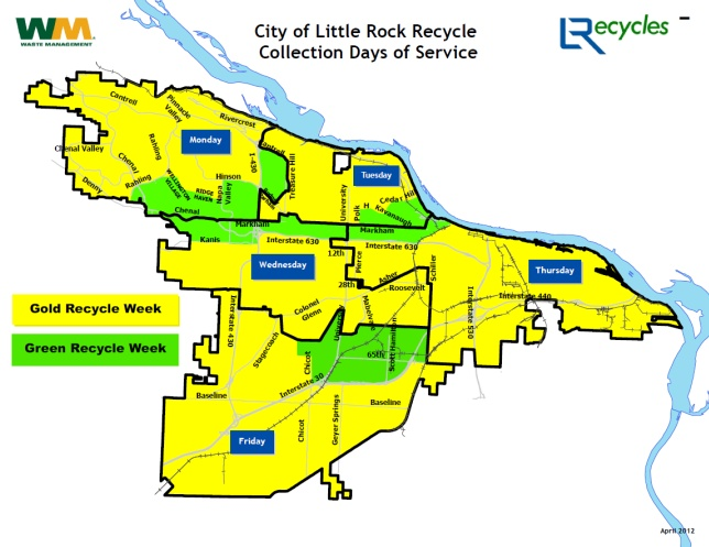 Recycling Collection Calendar | City of Little Rock