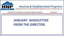 January Newsletter from the Director