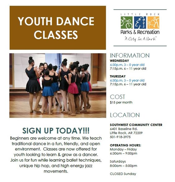 Youth Dance Classes Flyer