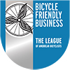 A shield showing League of American Bicyclists Bike Friendly Business designation